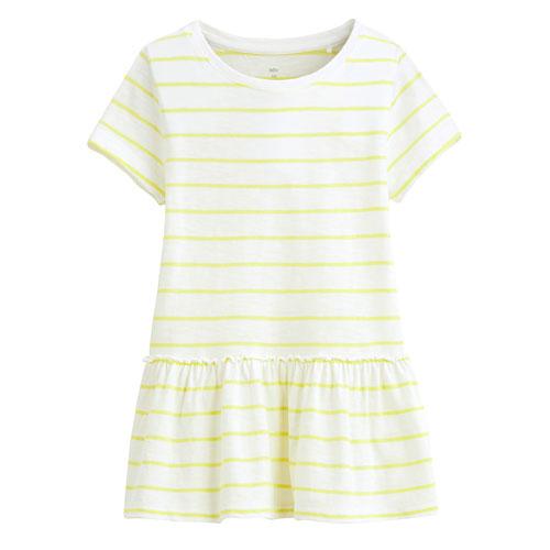 竹節棉抽縐寬版短袖衫-童