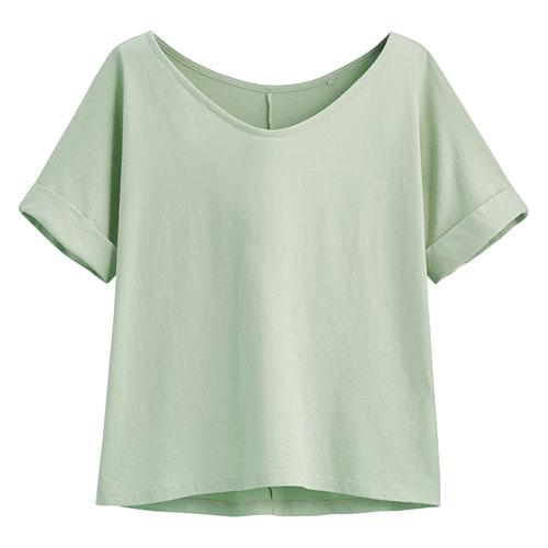 純棉寬版T恤-女