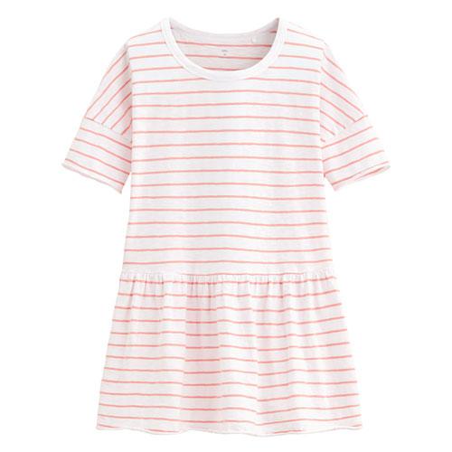 竹節棉抽縐寬版短袖衫-女