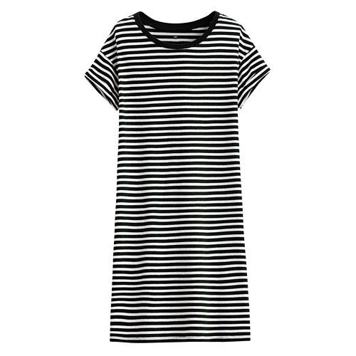 純棉圓領條紋洋裝-女