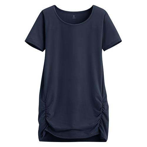 吸排抽縐長版衫-女