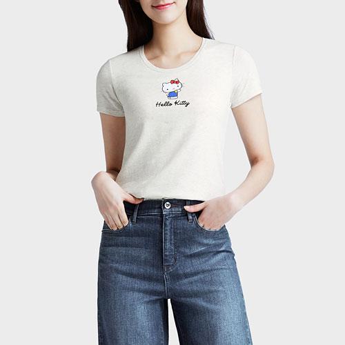 Hello Kitty Bra印花T恤-女