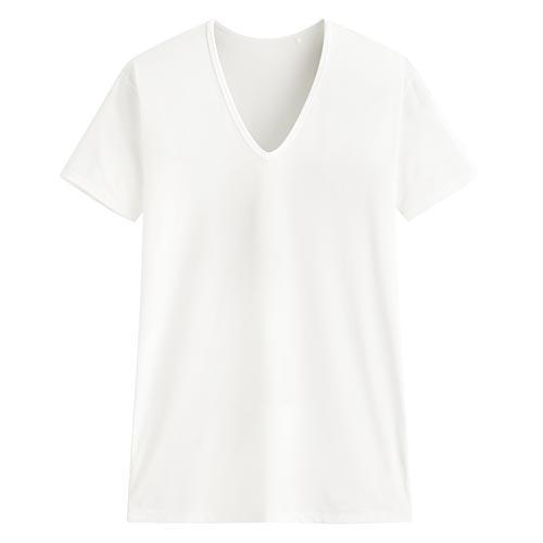 輕涼V領短袖T恤-男