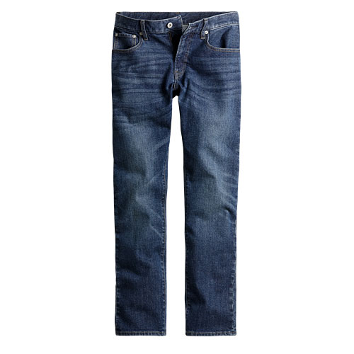 Slim Fit 修身直筒牛仔褲-男