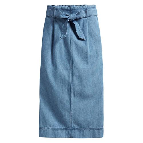 高腰牛仔窄版裙-女