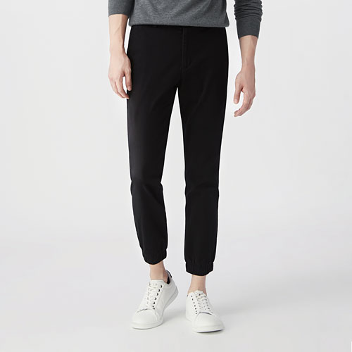 棉質束口褲-男