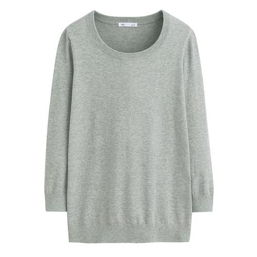 Pima 棉抗UV七分袖針織衫-女