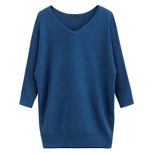 連袖寬版針織衫-女