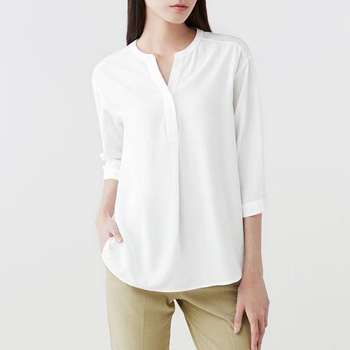 嫘縈七分袖襯衫-女