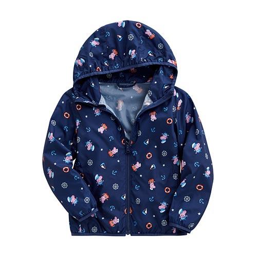 Peppa Pig輕型印花連帽外套-小童