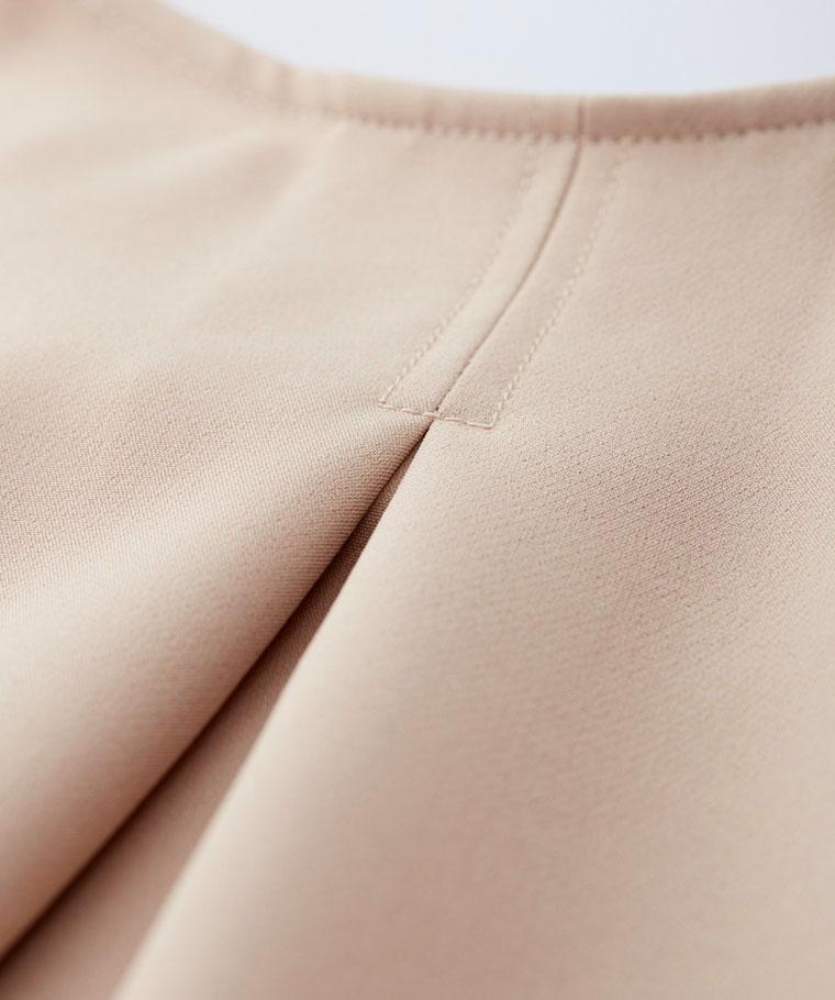 厚雪紡V領上衣-女