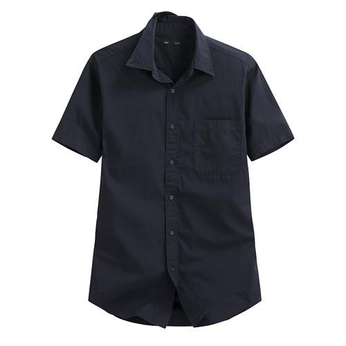 柔棉短袖襯衫-男