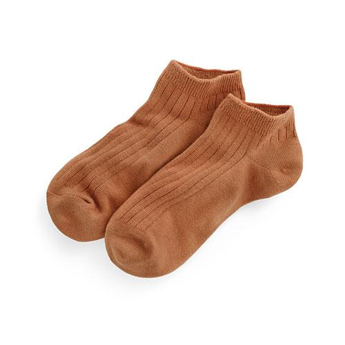 寬羅紋踝襪-女