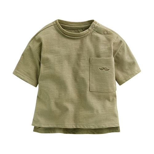竹節棉口袋寬鬆上衣-Baby