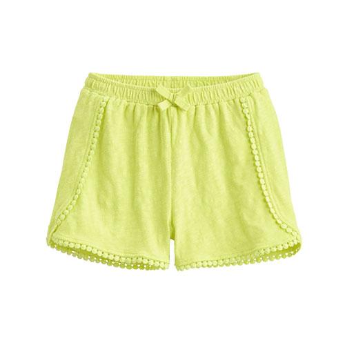 竹節棉蕾絲短褲-童
