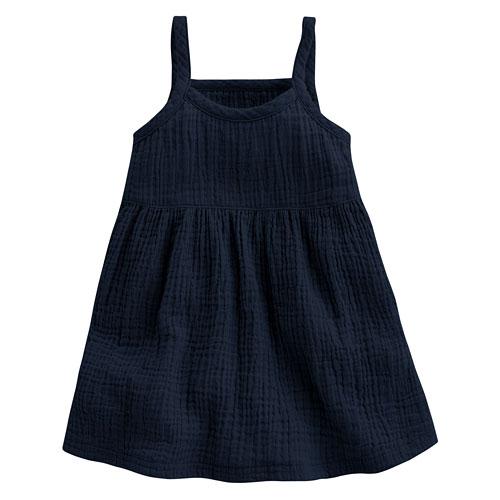 純棉微皺吊帶裙-Baby