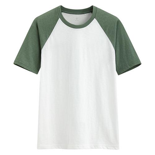 竹節棉配色T恤-男