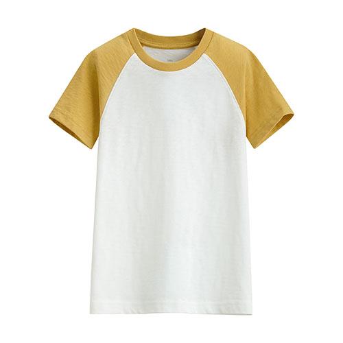 竹節棉配色T恤-童