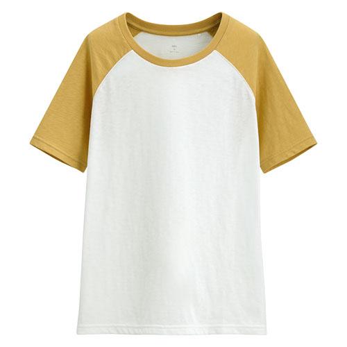竹節棉配色T恤-女