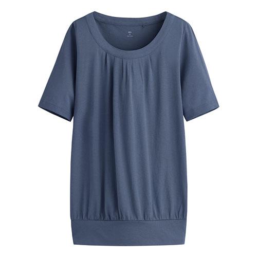 輕柔花式短袖衫-女
