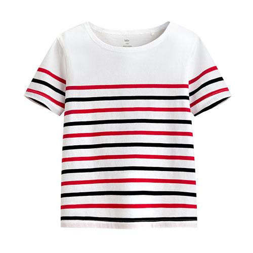 純棉條紋短袖T恤-童