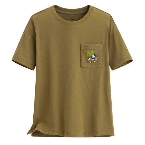 迪士尼系列口袋寬版印花T恤-53-女