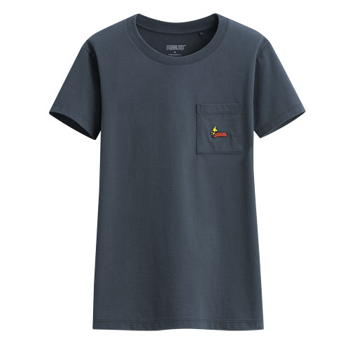 史努比口袋印花T恤-04-女