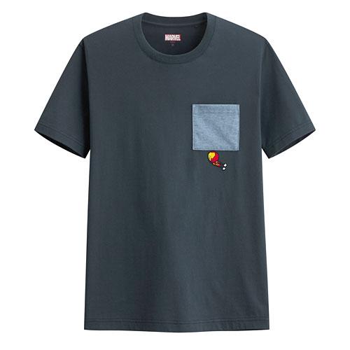 漫威系列口袋印花T恤-05-男