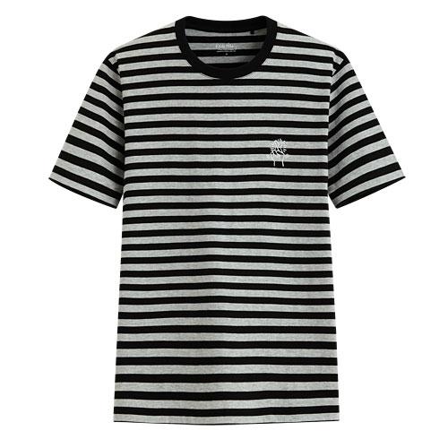 Keith Haring條紋印花T恤-06-男