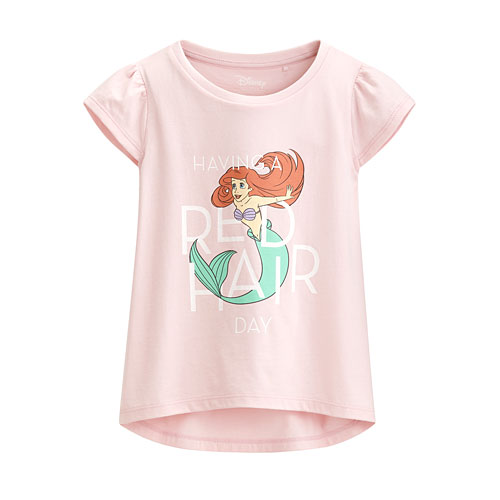 迪士尼系列包肩印花T恤-42-童