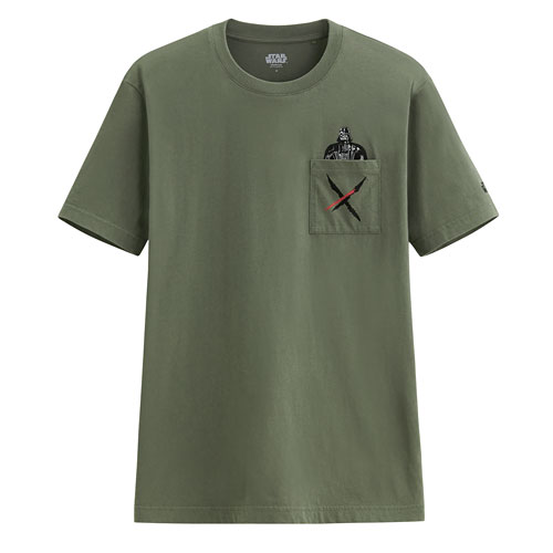 STAR WARS系列口袋印花T恤-09-男
