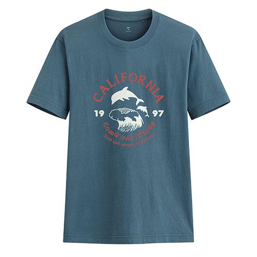 加州衝浪印花T恤-男