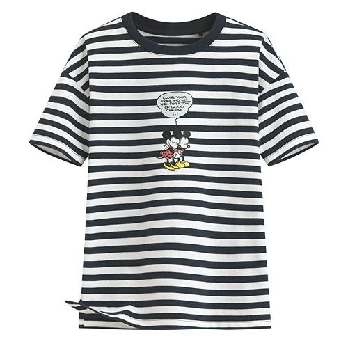 迪士尼系列寬版條紋T恤-07-女