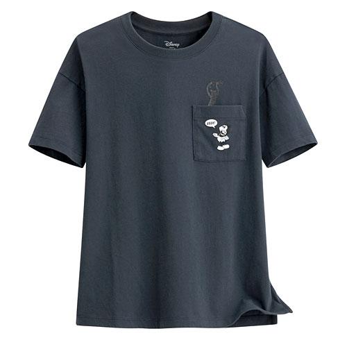 迪士尼系列口袋寬版印花T恤-54-女