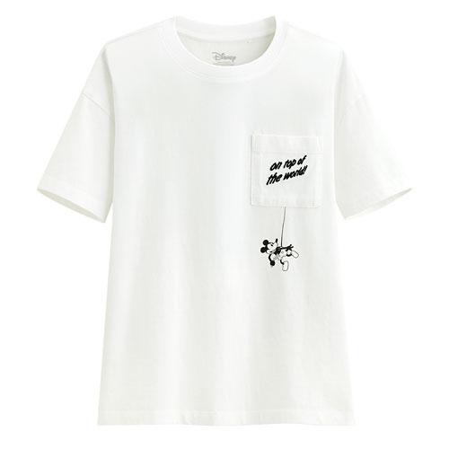 迪士尼系列口袋寬版印花T恤-55-女