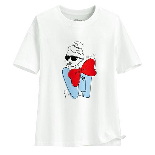 迪士尼系列寬版印花T恤-20-女