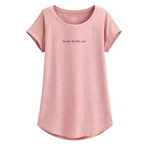 迪士尼系列袖口反折印花T恤-17-女