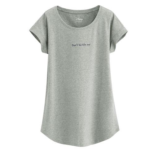 迪士尼系列袖口反折印花T恤-19-女