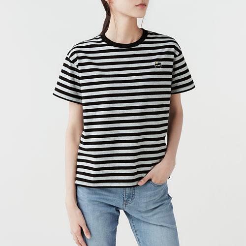 迪士尼系列寬版條紋T恤-04-女