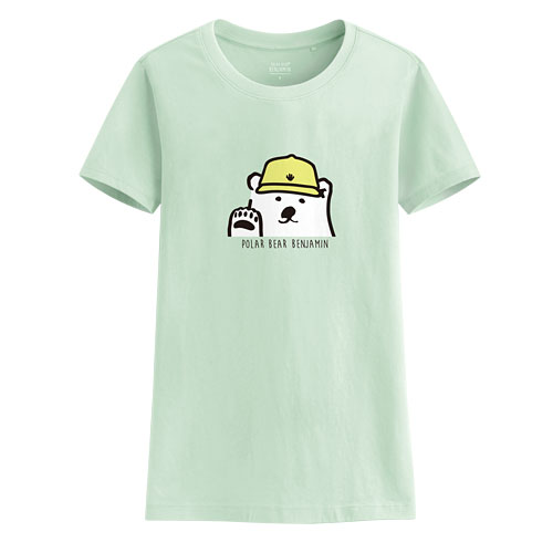 Polar Bear Benjamin印花T恤-06-女