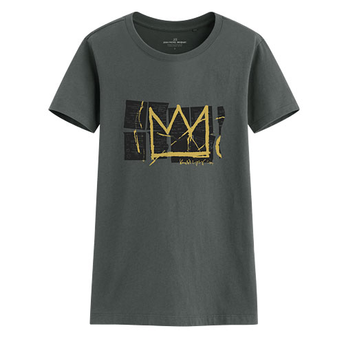 Jean-Michel Basquiat印花T恤-01-女