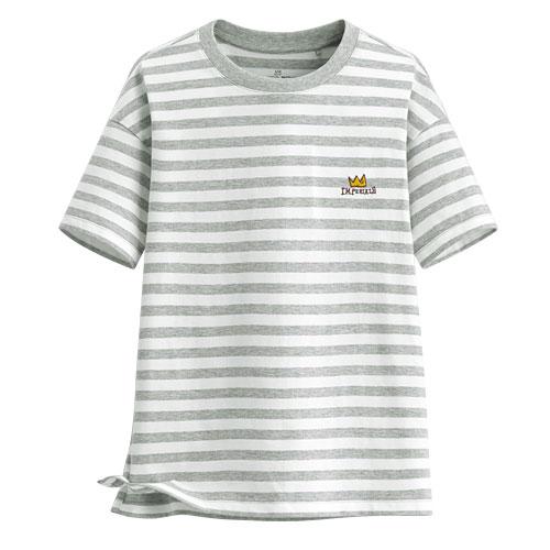 Jean-Michel Basquiat寬版條紋T恤-07-女