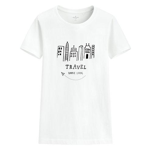 Hallmark印花T恤-03-女