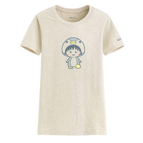 櫻桃小丸子印花T恤-05-女