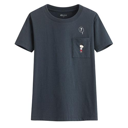 櫻桃小丸子口袋印花T恤-08-女