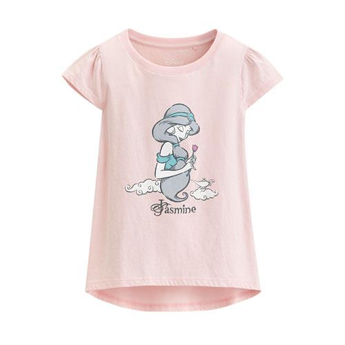 迪士尼系列包肩印花T恤-38-童