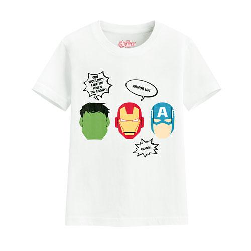 漫威系列印花T恤-04-童