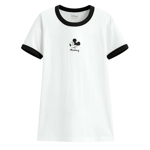 迪士尼系列羅紋配色印花T恤-09-女