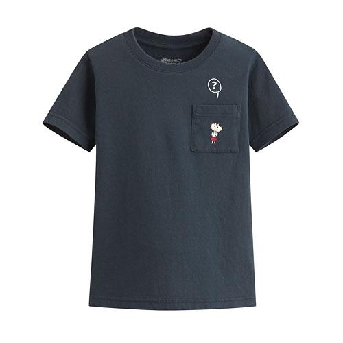 櫻桃小丸子口袋印花T恤-08-童