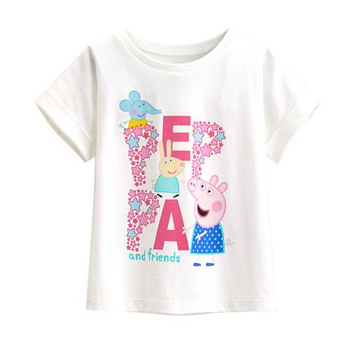 Peppa Pig短版印花T恤-06-童